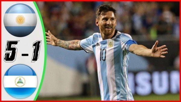 مباراة الأرجنتين ونيكاراغوا بتاريخ 2019 06 08 مباراة ودية