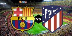 مباراة برشلونة ضد اتليتيكو مدريد في الجولة العاشرة من الدوري الاسباني